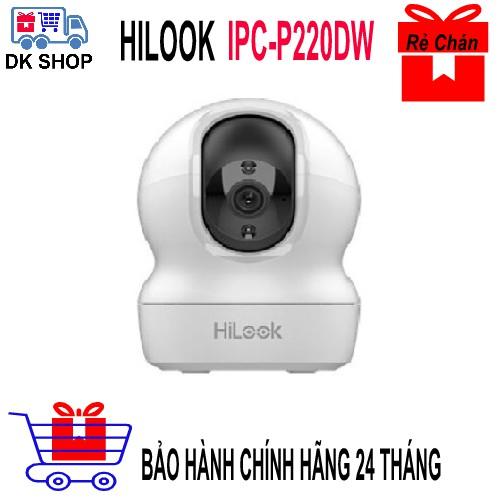 Camera Wifi Hikvision - Hilook IPC-P220-D/W ( 2.0MP -1080p) – Chính Hãng Bảo Hành 24TH - Quay 360 - Đàm Thoại 2 Chiều.