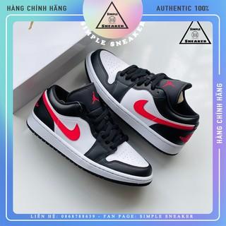 Giày Nike Jordan 1 FREESHIP JD1 Siren - Giày Nike Air Jordan 1 Siren Red Cổ Thấp Chính Hãng