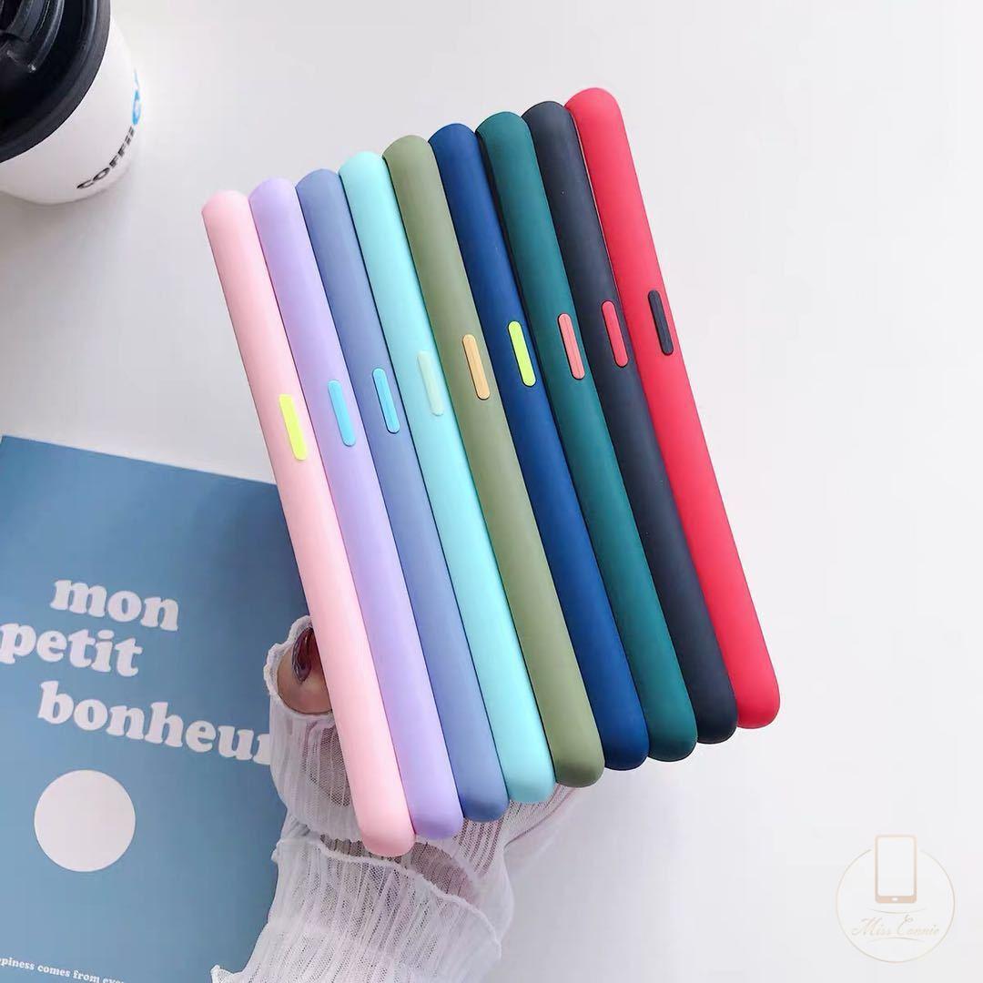 Ốp điện thoại màu macaron chống sốc tốt có bảo vệ camera cho Samsung A11 M11 A31 A21s M31 A50 A30s A50s