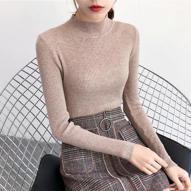 Áo len GÂN cổ 3 phân thời trang, mềm, ấm