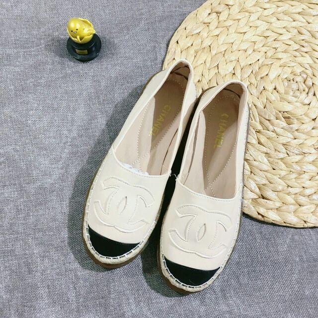 [Kèm ảnh thật video] Giày nữ I Giày lười da lì đế đúc viền cói chữ X 2 màu cực chảnh