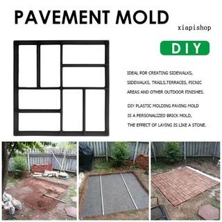 Đồ dùng làm vườn 45cmx40cm Cement Concrete Paving Mold Garden Stone Road Pavement Path Maker