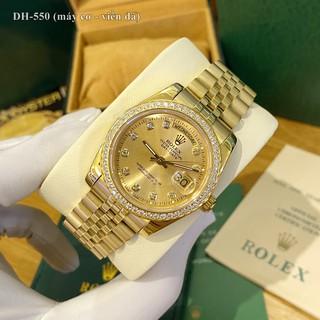 Đồng hồ nam Rolex mặt tròn đính đá sang trọng máy cơ chống nước cao cấp DH550 - Shop306 thumbnail