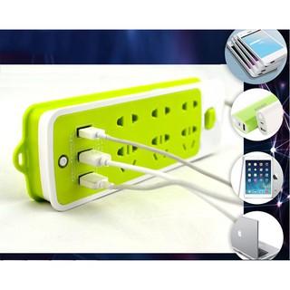 Ổ CẮM ĐIỆN THÔNG MINH – CHỐNG GIẬT – 6 CỔNG -3 CỔNG USB