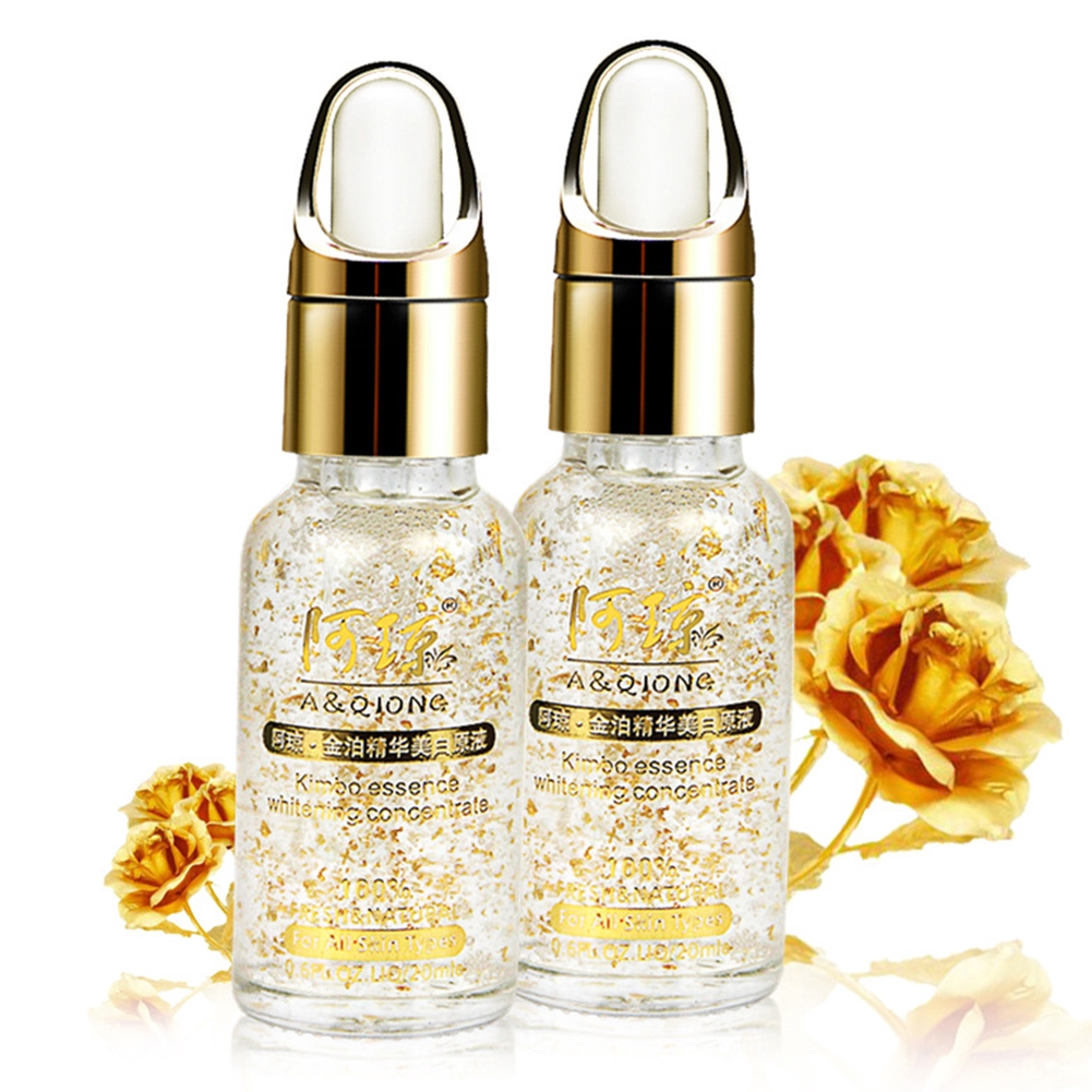 Skin Care Moisturizing Day Cream Oil Gold Foil Whitening Essence Hyaluronic Acid Liquid 20ml