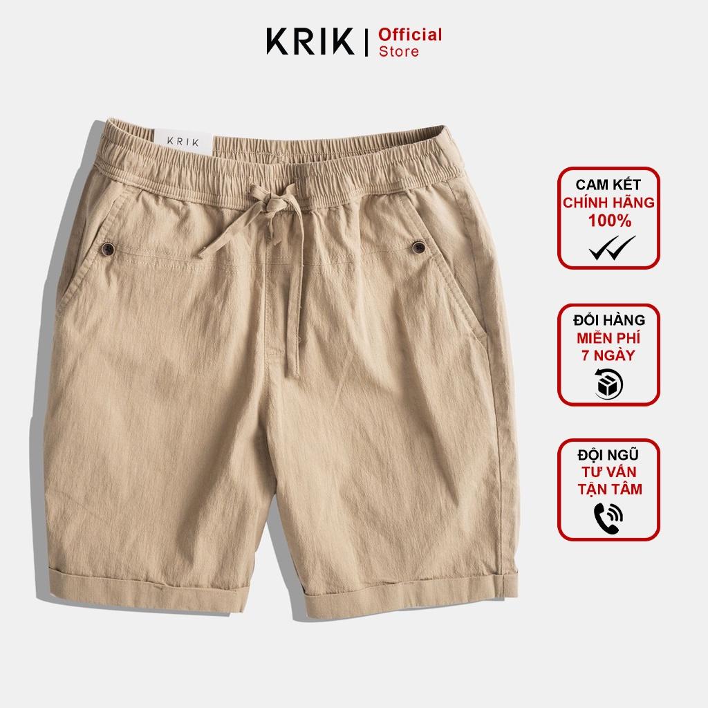 Quần Short Nam Cao Cấp Chính Hãng Local Brand KRIK Chất Đũi Phom Dáng Slimfit QS1510