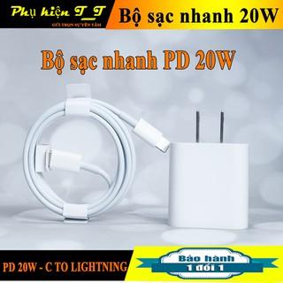 Bộ Sạc Nhanh iphone 20W + Công nghệ PD Sử dụng cho 8/8P/X/Xs/Xs Max/11/11Pro/11 Pro Max/12/12 Pro hàng chính hãng