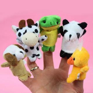 10x Cartoon Biological Animal Finger Puppet Plush Toys Child Baby Favor Dol