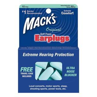 Hộp 10 đôi nút bịt tai Mack s kèm hộp đựng Original Soft Foam Earplugs thumbnail