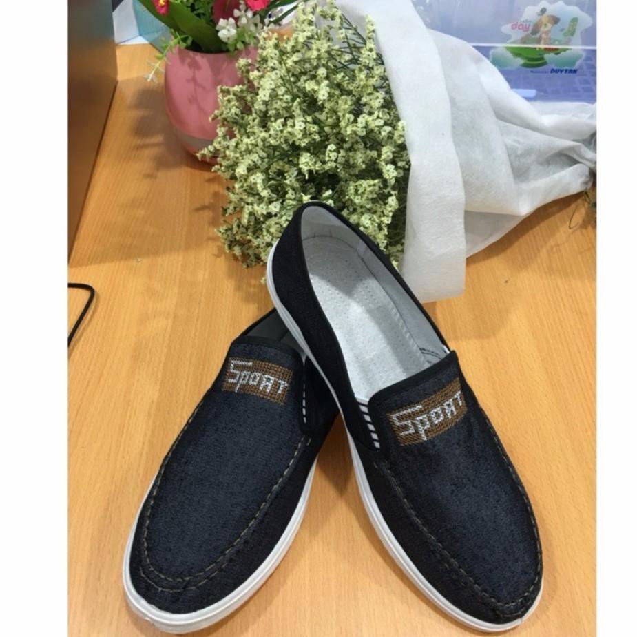 Giày lười vải nam chữ Sport- G19