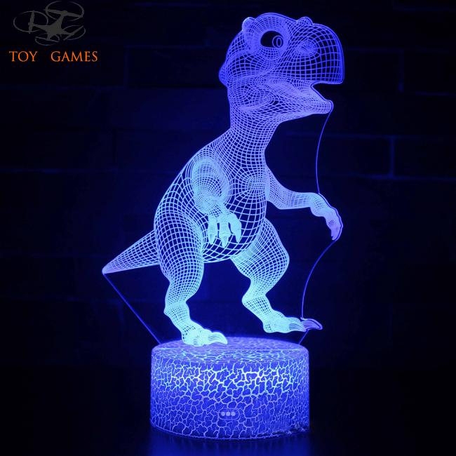 Dinosaur Kids Toys Glow in the Dark Fluorescent Birthday Gifts Children Luminous Night Light