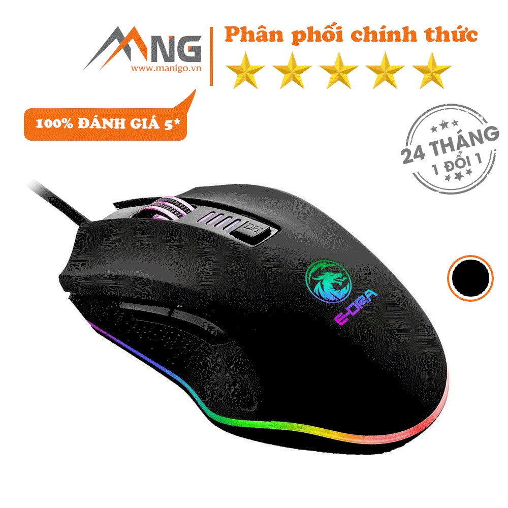 Chuột Gaming E-DRA EMS610 Đèn Led 7 Màu Có Dây Bảo hành 24 tháng