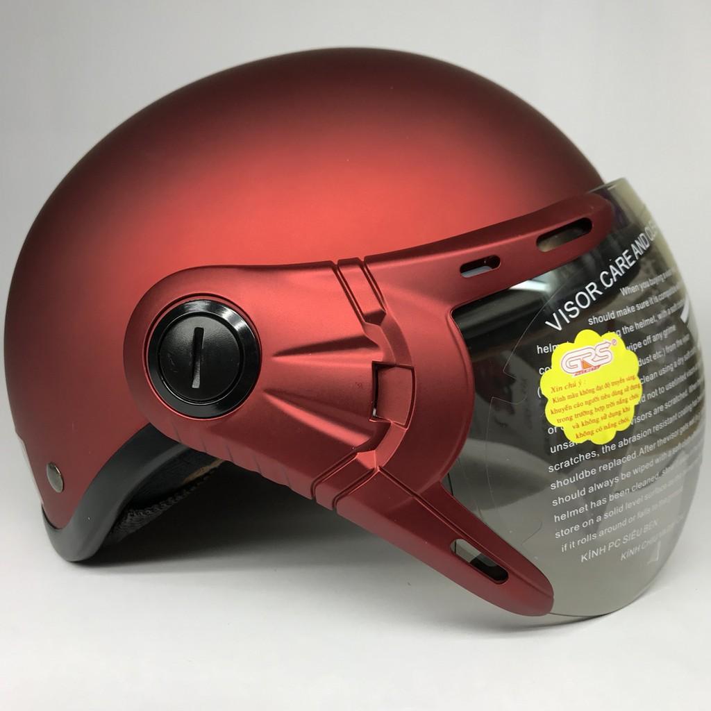 BIG SALE - Mũ bảo hiểm GRS A33k Táo nhám