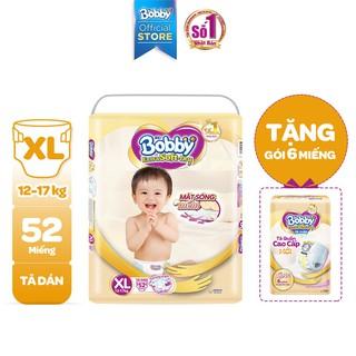 [Tặng 6 miếng tã quần] Tã dán cao cấp Bobby Extra Soft - Dry XL52