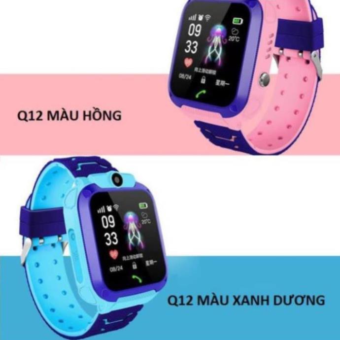 Đồng hồ thông minh định vị Q12 sạc nam châm, chống nước, gắn sim nghe gọi như điện thoại. I LOVE CASE [vthm9]