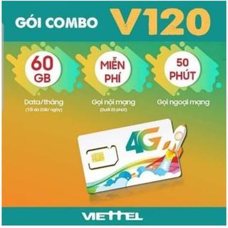 sim viettel 6v120 – sim dùng trong 6 tháng k lo nạp tiền