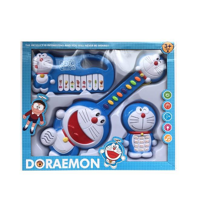 Bộ đàn ghi ta organ hình helo kitty _doremon cho bé
