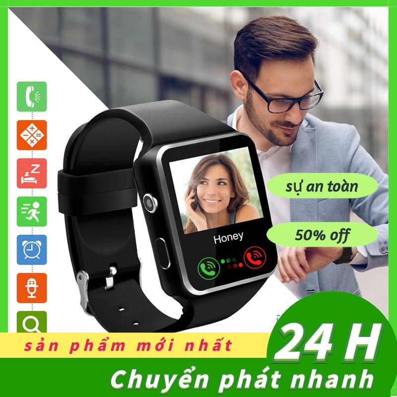 Đồng hồ thể thao thông minh X6 kết nối Bluetooth màn hình cảm ứng theo dõi sức khỏe đo bước đi
