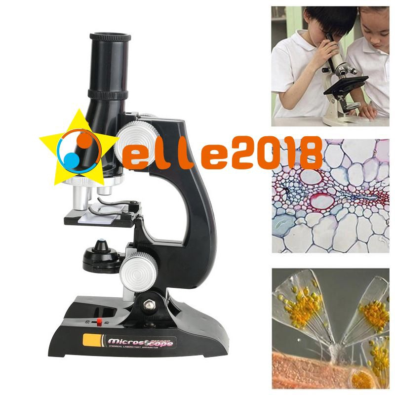 Science Kits for Kids Beginner Microscope with LED Kids Educational Toy
