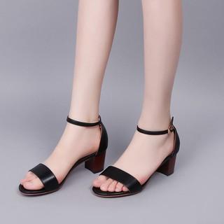Giày gót vuông 7 phân quai ngang da mềm - gcg28 - suppercheap_store