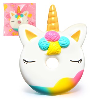 Jumbo Unicorn Donut Squishy Cake Bread Squishies Cream Scented Slow Rising Squeeze Toy with Original Package nice