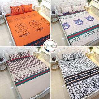 Bộ ga gối 💖m6/m8/2m💖 drap giường poly, ga trải giường + 2 vỏ gối nằm thương hiệu An Như Bedding