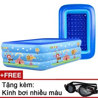 Bể bơi phao 3 tầng 1m5, tặng kèm kính bơi cho bé