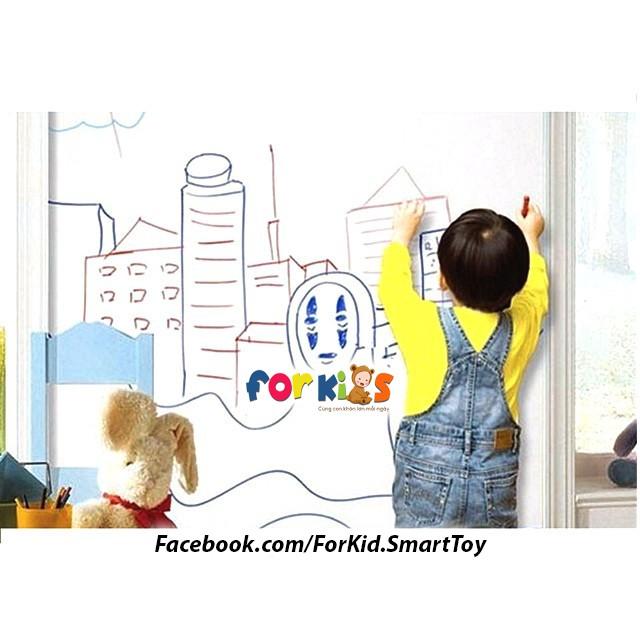 Bảng dán tường cho bé tha hồ vẽ và học