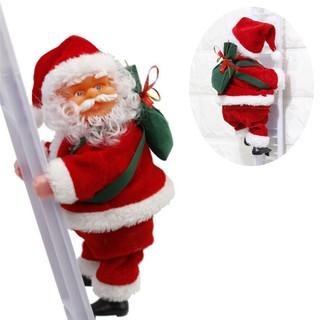 Electric Santa Claus Ornament Plush Doll Toy Climb the Ladder Christmas