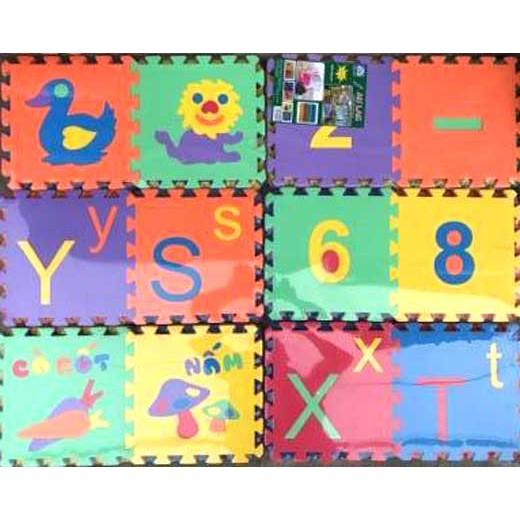 12 miếng thảm xốp Âu Lạc ghép chữ cho bé yêu
