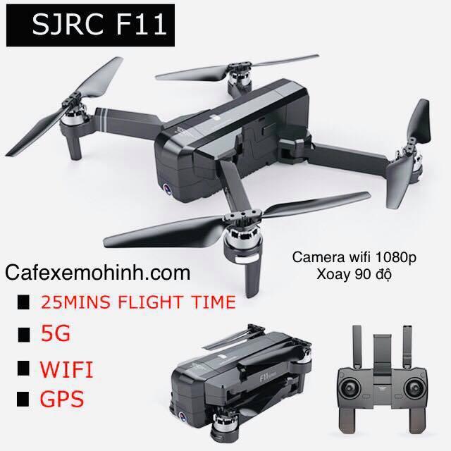 Máy bay Flycam sjrc f11 gps camera 1080p bay xa 1km có tự bay về