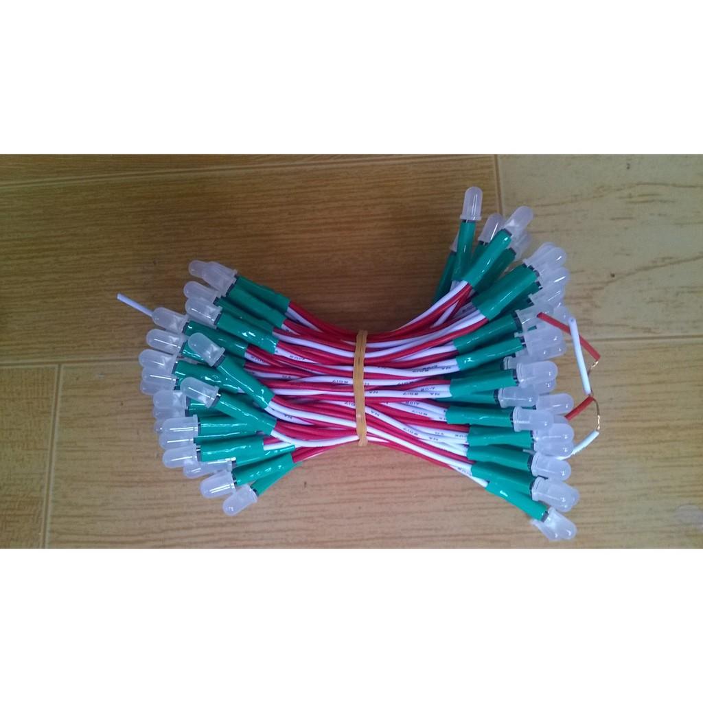 Led ruồi 5mm senyang màu Xanh Lá (dây 100 led)