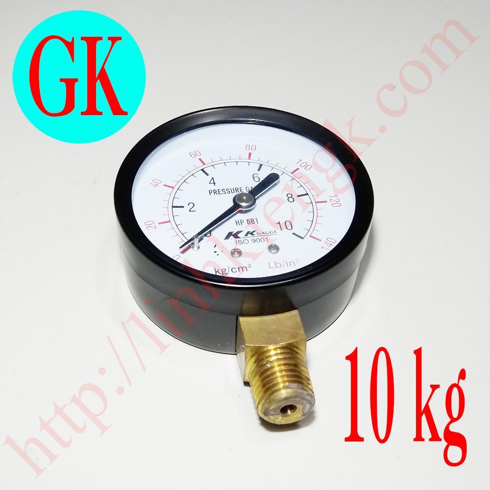 Đồng hồ đo áp suất máy nén khí không dầu phi 63 loại 10kg