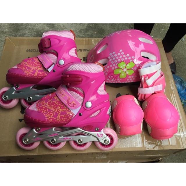 Combo giầy patin CVB102+găng tay+mũ bảo hiểm