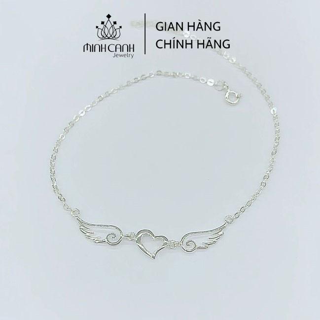 [Mã FARSBR151 giảm 100% đơn 0đ] Lắc Chân Bạc Ta Minh Canh Jewelry - Đôi Cánh Thiên Thần Trơn