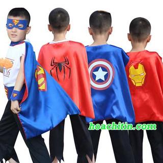 Áo choàng siêu nhân cho bé các nhân vật siêu anh hùng Tặng kèm mặt nạ