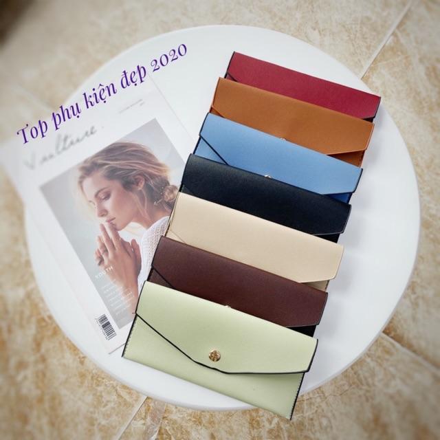 Ví da đa năng, đựng kính cận/thẻ/điện thoại/tiền - Ví cầm tay Unisex nam nữ thời trang nhiều màu sắc