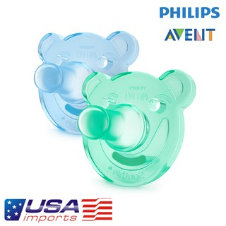 Ty ngậm/ Ty giả chống vẩu Philips AVENT Soothie 0-3m+ USA | Shopee Việt Nam
