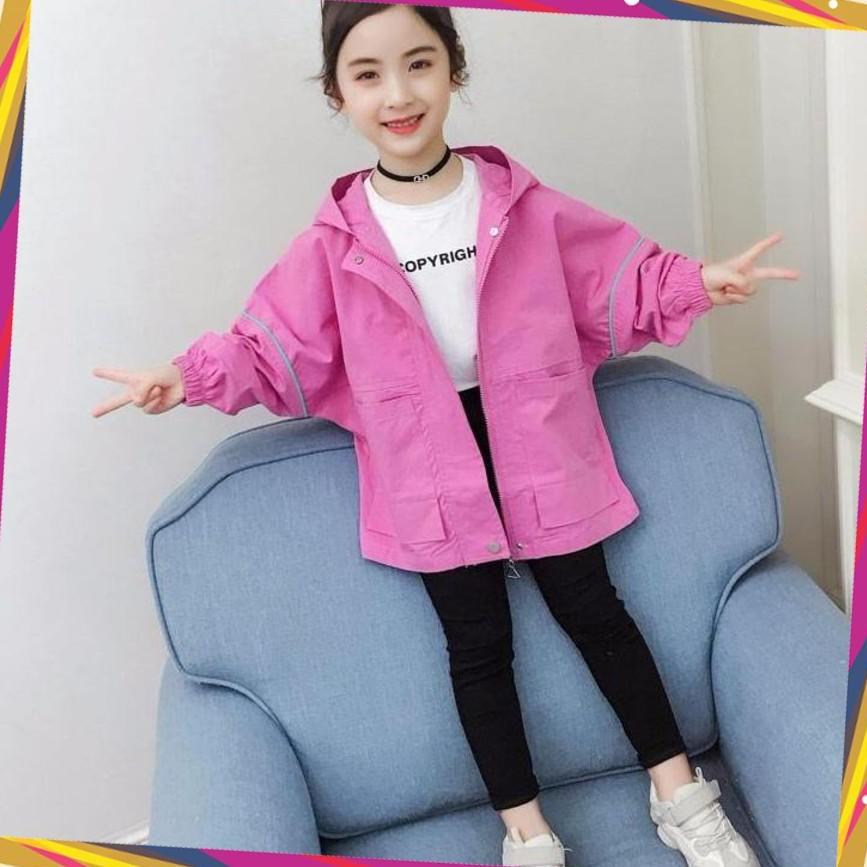 áo khoác bé gái, áo khoác dù 2 lớp Unisex từ 5 đến 14 tuổi M856