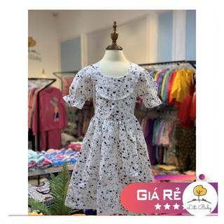 Váy đũi hoa bé gái 8-12T. Chất liệu đũi thô thoáng mái, không nhăn. Thương hiệu LITIBABY