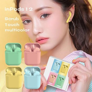Original New i12 TWS Wireless earphones Bluetooth Mini Earbuds 5.0 Pink For iPho