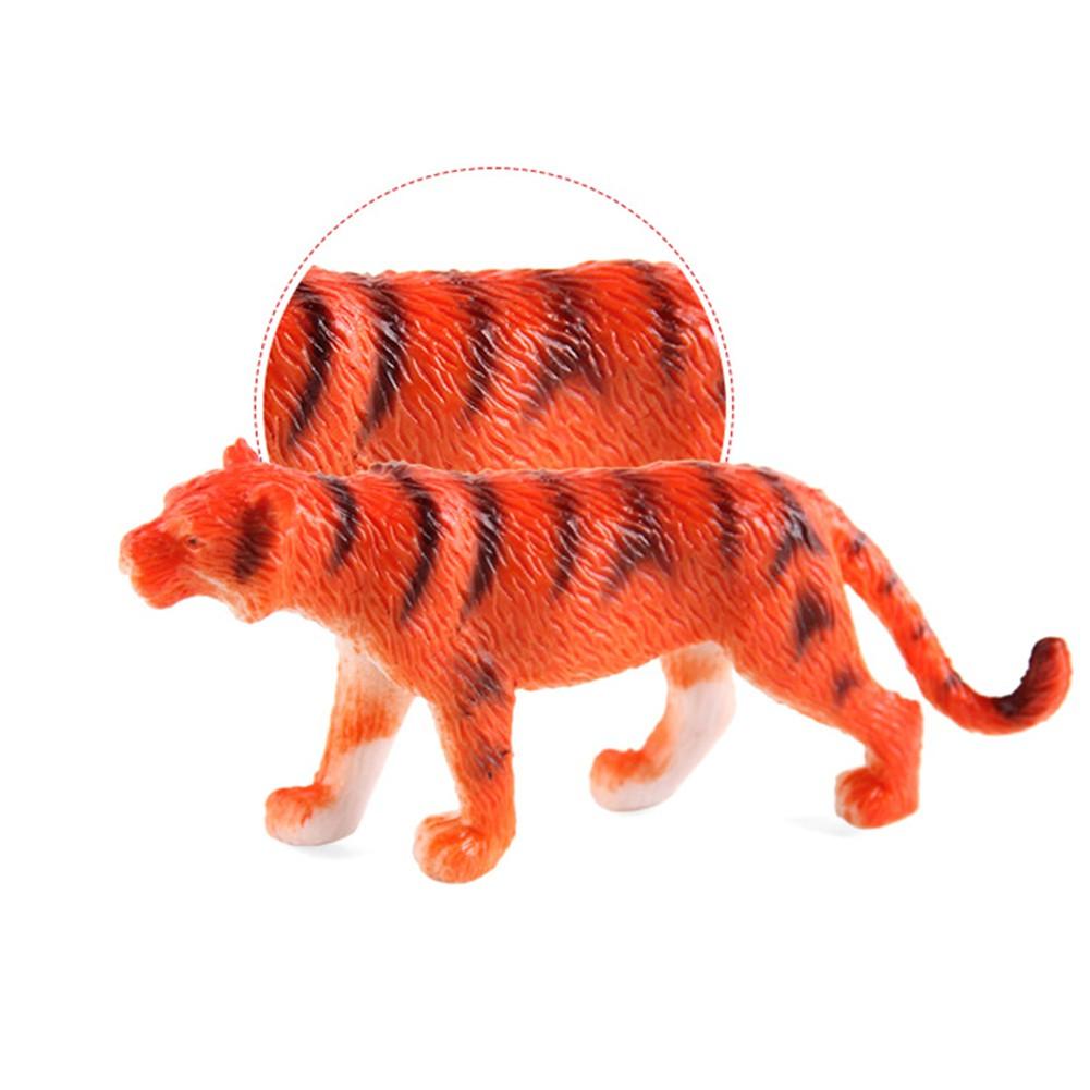 12pcs Plastic Zoo Animal Figure Model Kids Toy Set