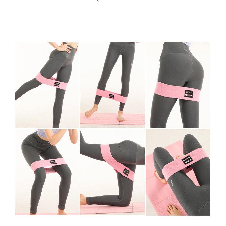 Dây kháng lực tập mông, gym, yoga Boer cao cấp AK29