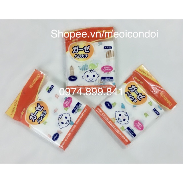Gói 10 chiếc khăn sữa hoa Marigo 2 lớp cho giặt máy - 2841972 , 1329833424 , 322_1329833424 , 65000 , Goi-10-chiec-khan-sua-hoa-Marigo-2-lop-cho-giat-may-322_1329833424 , shopee.vn , Gói 10 chiếc khăn sữa hoa Marigo 2 lớp cho giặt máy