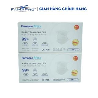Combo 2 hộp khẩu trang y tế cao cấp kháng khuẩn 4 lớp Famapro max màu trắng (40 cái hộp ) thumbnail