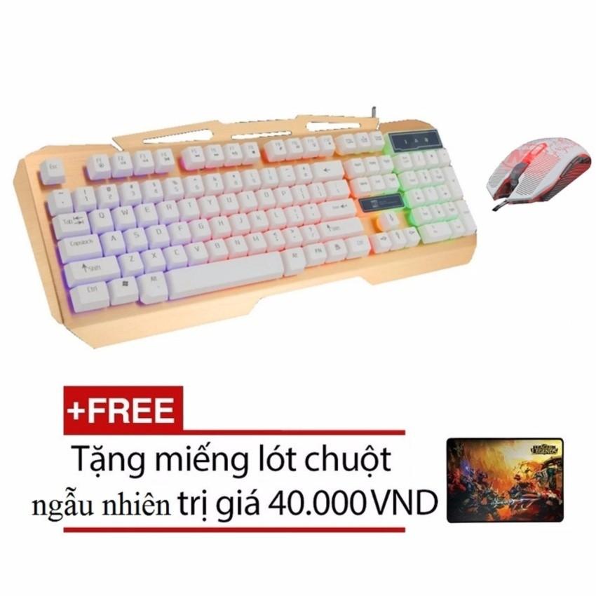 Bộ bàn phím giả cơ và chuột chuyên game R8 1828 - 1639 (Trắng) + Tặng kèm lót chuột - 2491674 , 197650252 , 322_197650252 , 443000 , Bo-ban-phim-gia-co-va-chuot-chuyen-game-R8-1828-1639-Trang-Tang-kem-lot-chuot-322_197650252 , shopee.vn , Bộ bàn phím giả cơ và chuột chuyên game R8 1828 - 1639 (Trắng) + Tặng kèm lót chuột
