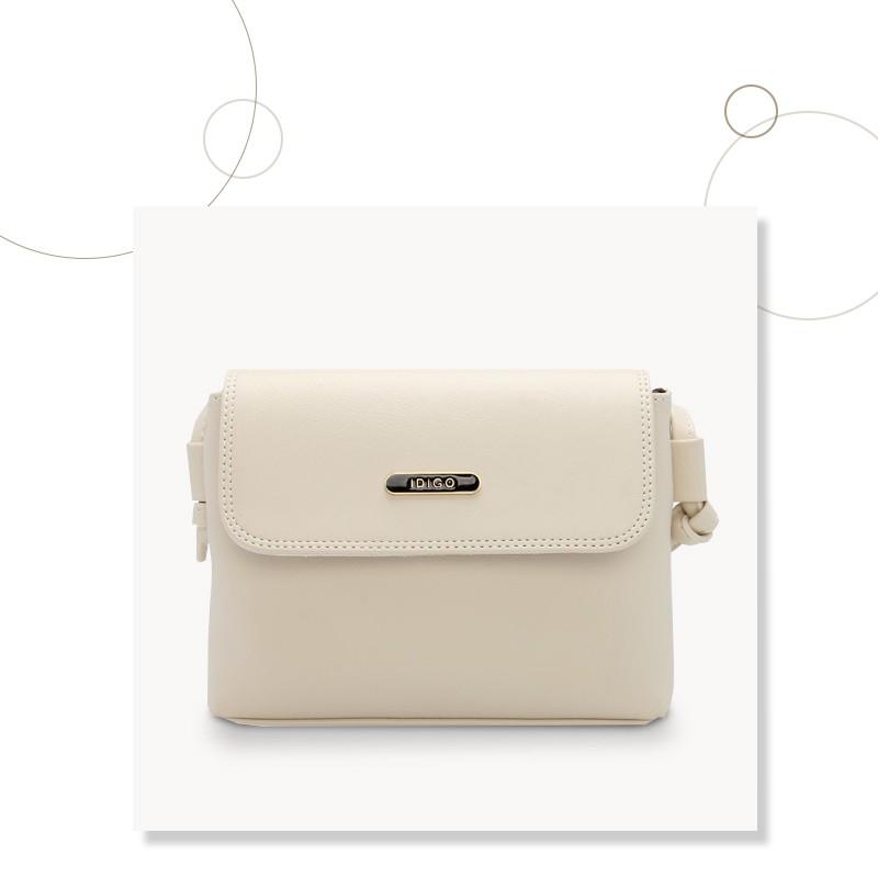 Túi đeo chéo nữ dáng vuông nắp gập IDIGO FB2-126-00