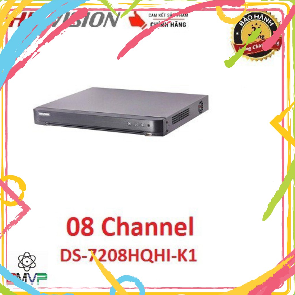 💚 Đầu ghi hình 8 kênh Turbo HD 4.0 Hikvision DS-7208HQHI-K1 - Hàng chính hãng®