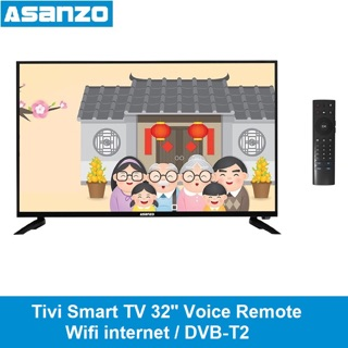 Tivi Smart tv Asanzo 32inch wifi internet remote giọng nói