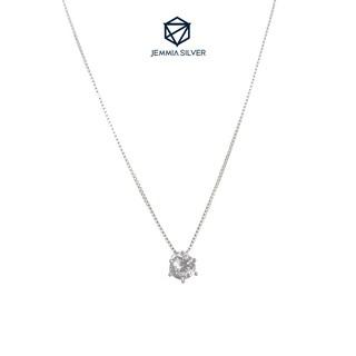 Dây chuyền bạc nữ Jemmia mặt đá lấp lánh - JM000